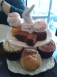 Afternoon Tea at Beas of Bloomsbury bakery... shame about the feet though!